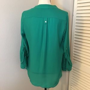 Honey Punch Tops - [Honey Punch] Long Sleeve Two Button Top